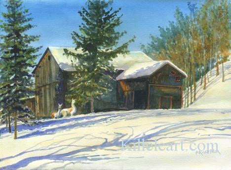 Zina Hemstreet Barn painting by Michael Killelea